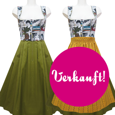 "Designer-Dirndl ""Green Splash"""