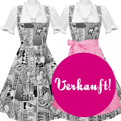 "Dirndl ""Supergirl Black and White"""