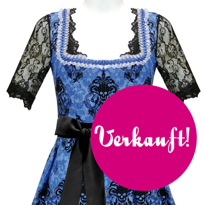 "Designer-Dirndl ""Skulls on Blue"""