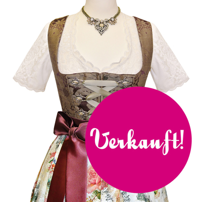 "Designer-Dirndl ""Thinking at You"" inkl. Schleife und Bluse"