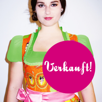 "Designer-Dirndl ""Frida Kahlo Orange"""