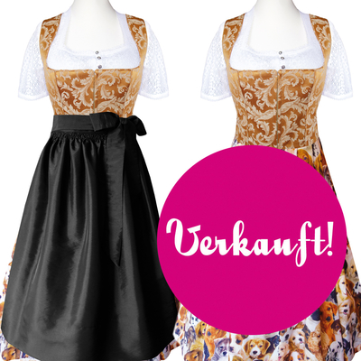 "Designer-Dirndl ""Who let the dogs out"""